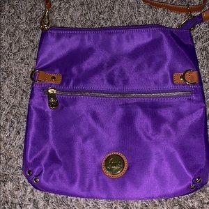 Joy purple and brown crossbody